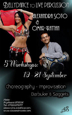 Workshop med Alexandra Soto och Omar Kattan - 19-21 september 2014